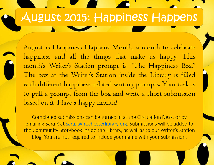 August 2015 prompt