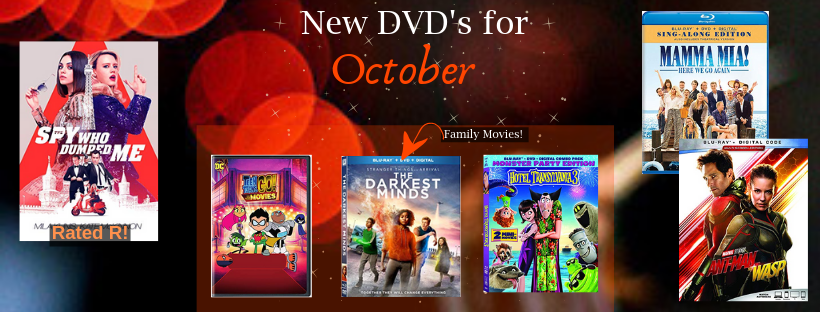 Copy of October 2018 new DVD's
